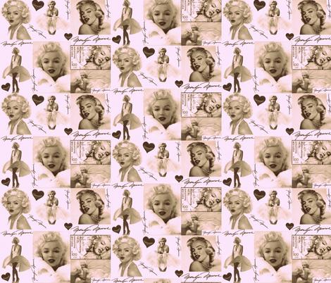 MARILYN MONROE AFTER MY HEART fabric by bluevelvet on Spoonflower - custom fabric
