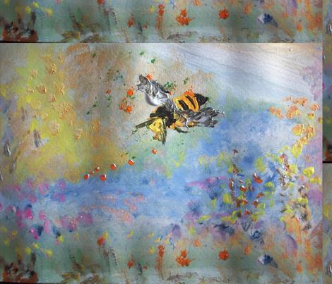 Bee my honey fabric by myartself on Spoonflower - custom fabric