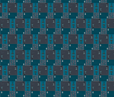 Double Robot Trouble fabric by ninjaauntsdesigns on Spoonflower - custom fabric