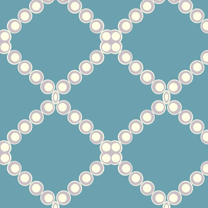 Mauve Circles on Teal