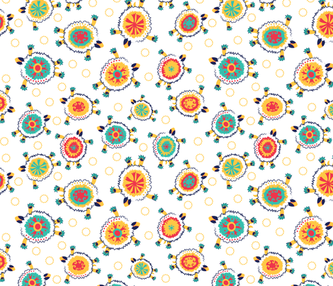 Sea Turtles - White fabric by oddlyolive on Spoonflower - custom fabric
