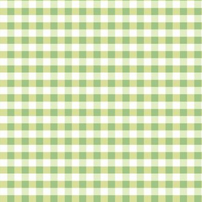Gingham Lime Lemon Pale Green