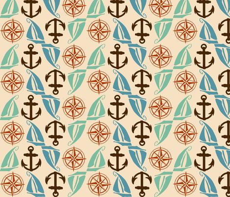 Nautical Medley fabric by kellyw on Spoonflower - custom fabric