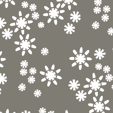 Cut Flowers Charcoal fabric by alicia_vance on Spoonflower - custom fabric