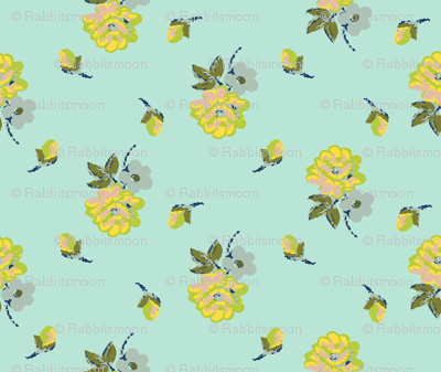 small vintage roses - colorway25