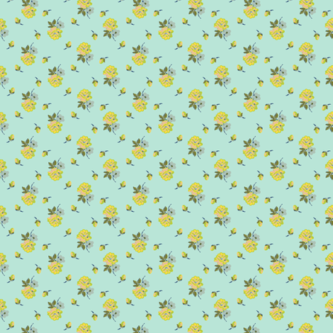 small vintage roses - colorway25 fabric by rabbitsmoon on Spoonflower - custom fabric