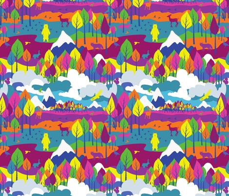 Color Mountain fabric by jackie_haltom on Spoonflower - custom fabric