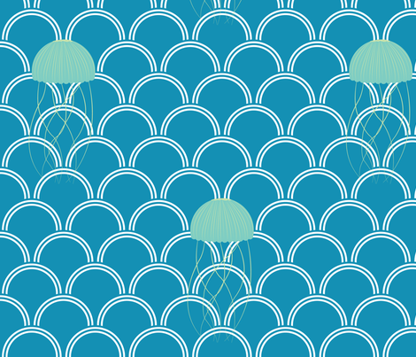 Jellyfish fabric by emilykathleen on Spoonflower - custom fabric