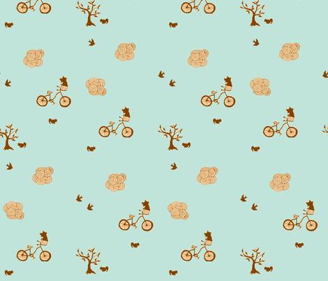 bicycle brown fabric by 2reneevk on Spoonflower - custom fabric