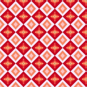flower diamond red