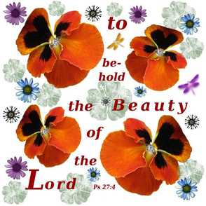 Beauty of the Lord on white