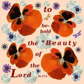 Beauty of the Lord on beige