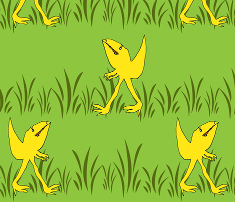 """Rexi""  the dinosaur fabric by honey_gherkin on Spoonflower - custom fabric"