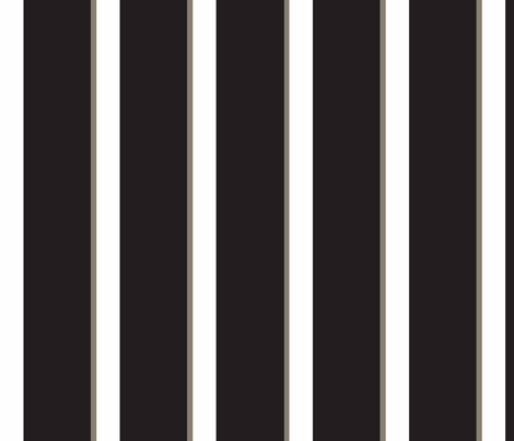 Classic_Black_Stripe fabric by designedtoat on Spoonflower - custom fabric