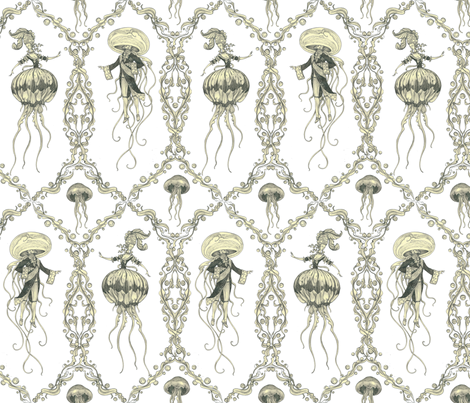 Gooey the XVI and Marine Antoinettle fabric by ceanirminger on Spoonflower - custom fabric