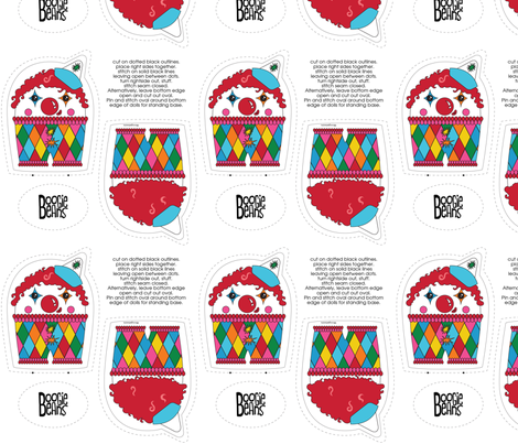 Clown Plush fabric by kfay on Spoonflower - custom fabric