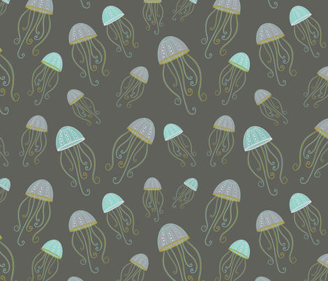 Jellyfish Bloom fabric by creative_octopus on Spoonflower - custom fabric