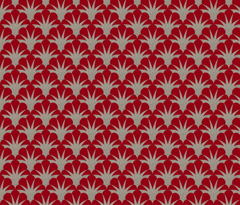Deco scallop fabric by minimiel on Spoonflower - custom fabric