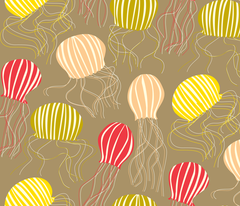 jelly blup blup fabric by mariao on Spoonflower - custom fabric