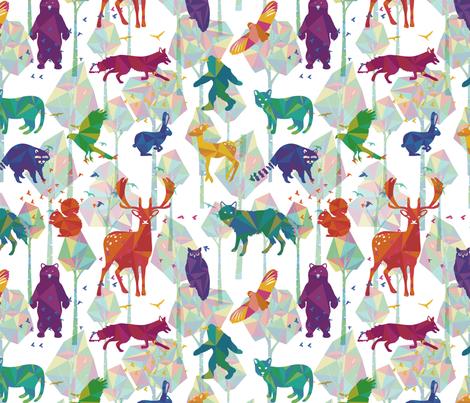 Tree Whisper fabric by jackie_haltom on Spoonflower - custom fabric