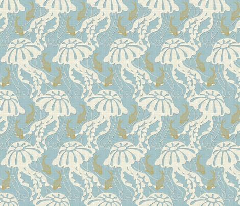 jellyfish dance half scale fabric by littlerhodydesign on Spoonflower - custom fabric