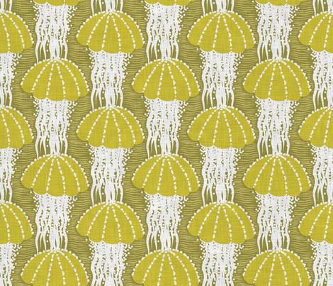 Jellyfish drift fabric by needlebook on Spoonflower - custom fabric