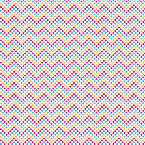 Zig Zag Polka Dots in Bunny fabric by marcelinesmith on Spoonflower - custom fabric