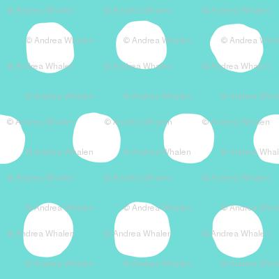 Jumbo Dots in aqua/white