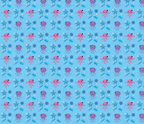 jellyfish2 fabric by jullietm on Spoonflower - custom fabric