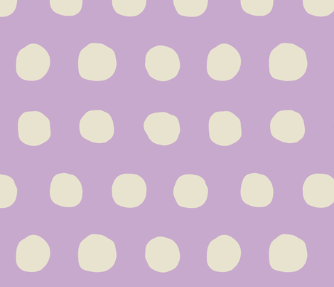 Jumbo Dots in lavender/natural fabric by domesticate on Spoonflower - custom fabric