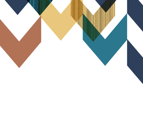 Congested Chevrons Falling fabric by stephanie on Spoonflower - custom fabric