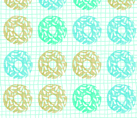 DONUTS fabric by legeretdesign on Spoonflower - custom fabric