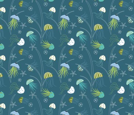 Jellyfish Fantasy fabric by lauriebaars on Spoonflower - custom fabric