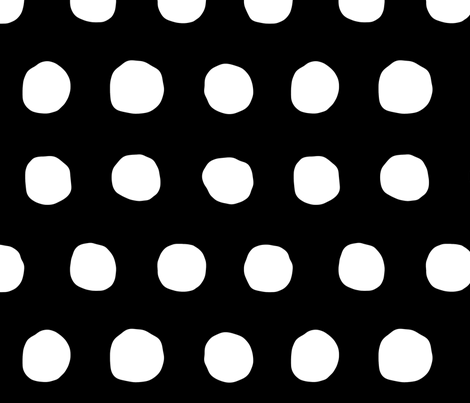 Jumbo  Dots in black/white fabric by domesticate on Spoonflower - custom fabric
