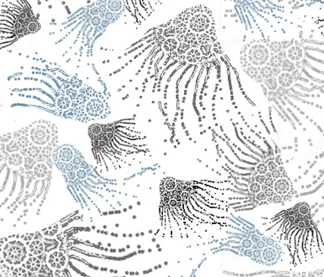 jellyfish lace fabric by pic on Spoonflower - custom fabric