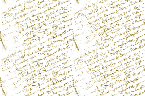 French Script on white fabric by karenharveycox on Spoonflower - custom fabric