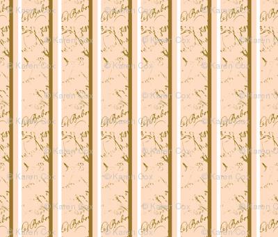 French Script Creamsicle Stripe fabric