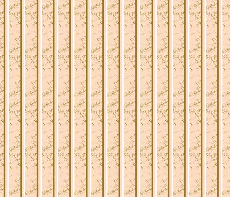 French Script Creamsicle Stripe fabric fabric by karenharveycox on Spoonflower - custom fabric