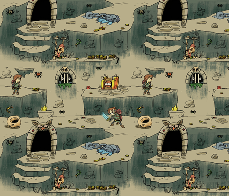 Dungeon_Adventure2 fabric by sewdeadly on Spoonflower - custom fabric