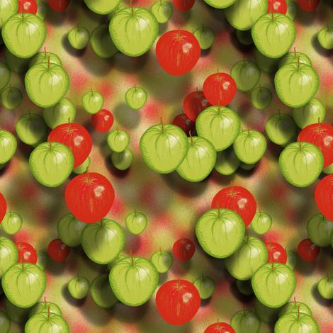 Falling apples fabric by su_g on Spoonflower - custom fabric