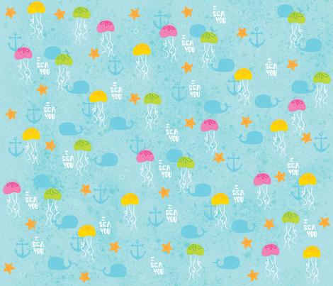 Martsjellyfish fabric by doreen_marts on Spoonflower - custom fabric