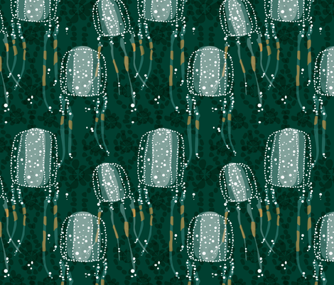 Box Jellyfish fabric by ravenous on Spoonflower - custom fabric