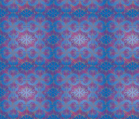 Jellyfish Floral fabric by brandymiller on Spoonflower - custom fabric