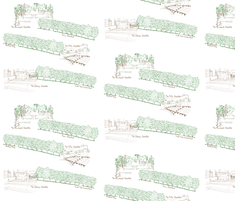 Redlands Toile fabric by wiccked on Spoonflower - custom fabric
