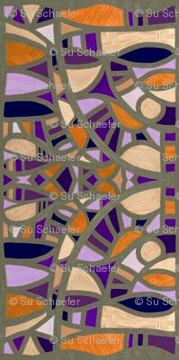 Gaudy Gaudi oranges and purples vertical