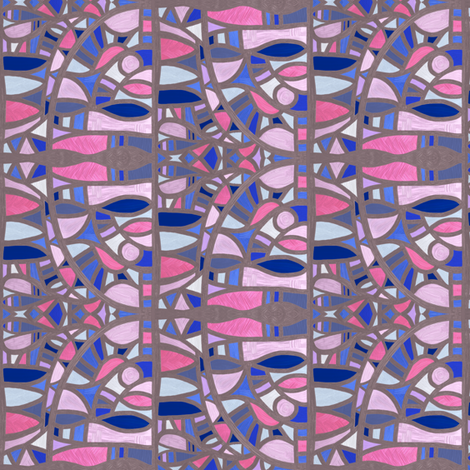 Gaudy Gaudi (apologies Picasso), small by Su_G fabric by su_g on Spoonflower - custom fabric