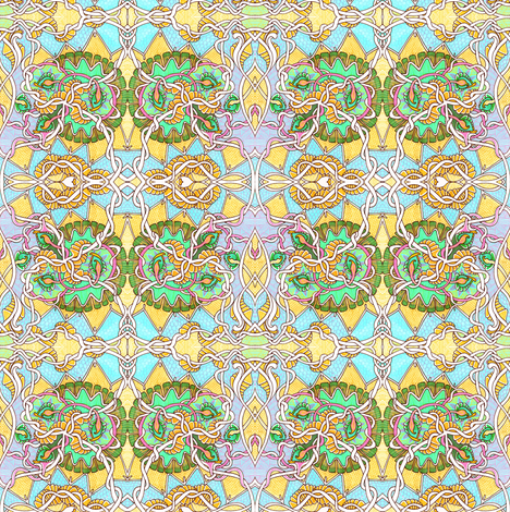 Tangled Up in Lemon fabric by edsel2084 on Spoonflower - custom fabric