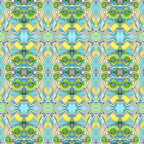 Tangled up in Minty Green fabric by edsel2084 on Spoonflower - custom fabric