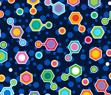 Big Hydrocarbon in Space fabric by spellstone on Spoonflower - custom fabric