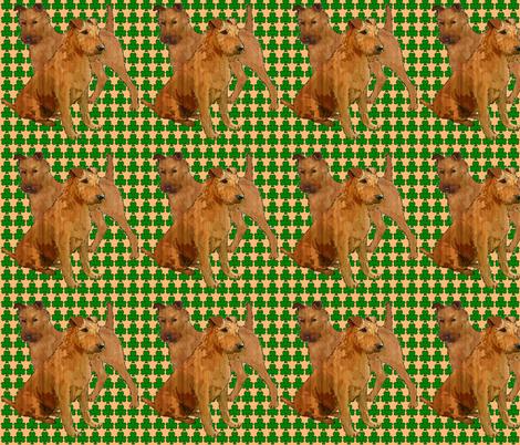 irish_terriers_with_shamrocks fabric by dogdaze_ on Spoonflower - custom fabric